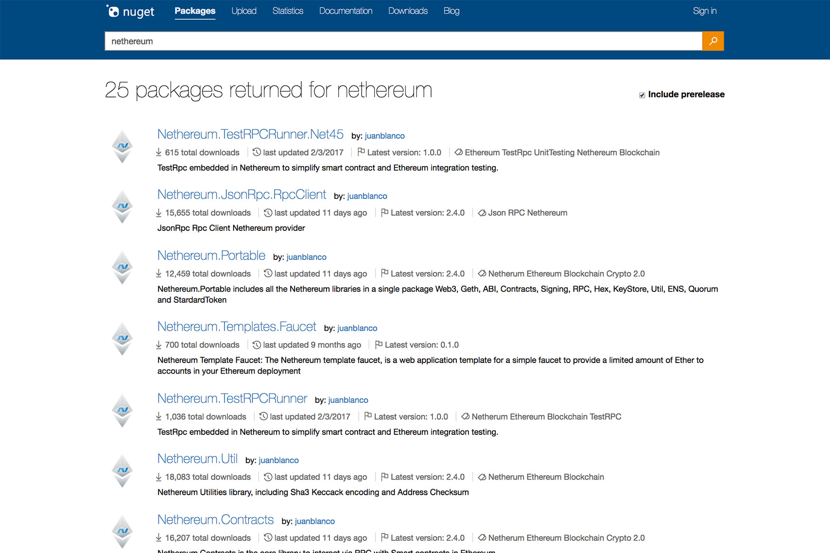 Nethereum NuGet Packages